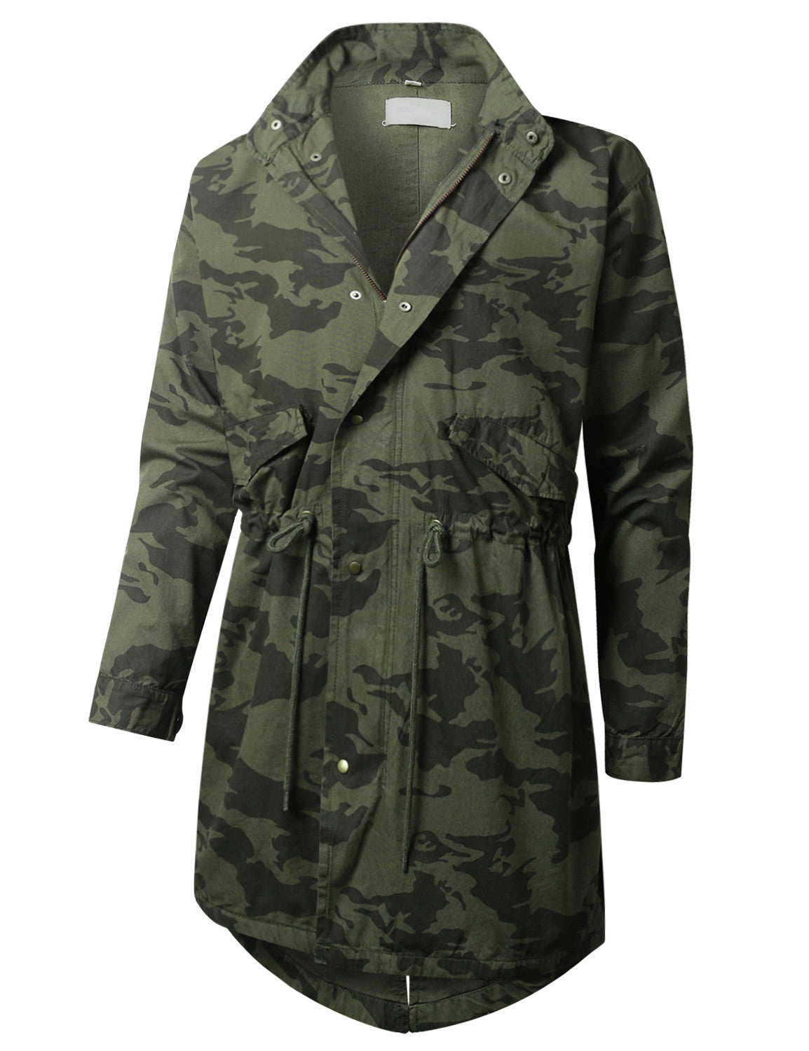 FATIGUE Camo Hooded Long Military Jacket - URBANCREWS