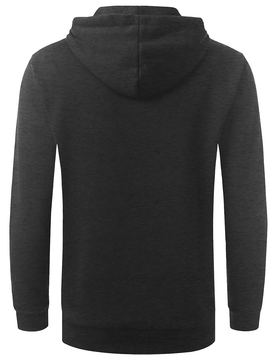 CHARCOAL Basic Long Sleeve Pullover Hoodie Sweatshirt - URBANCREWS