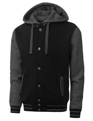 BLACKCHARCOAL Baseball Hoodie Jacket - URBANCREWS
