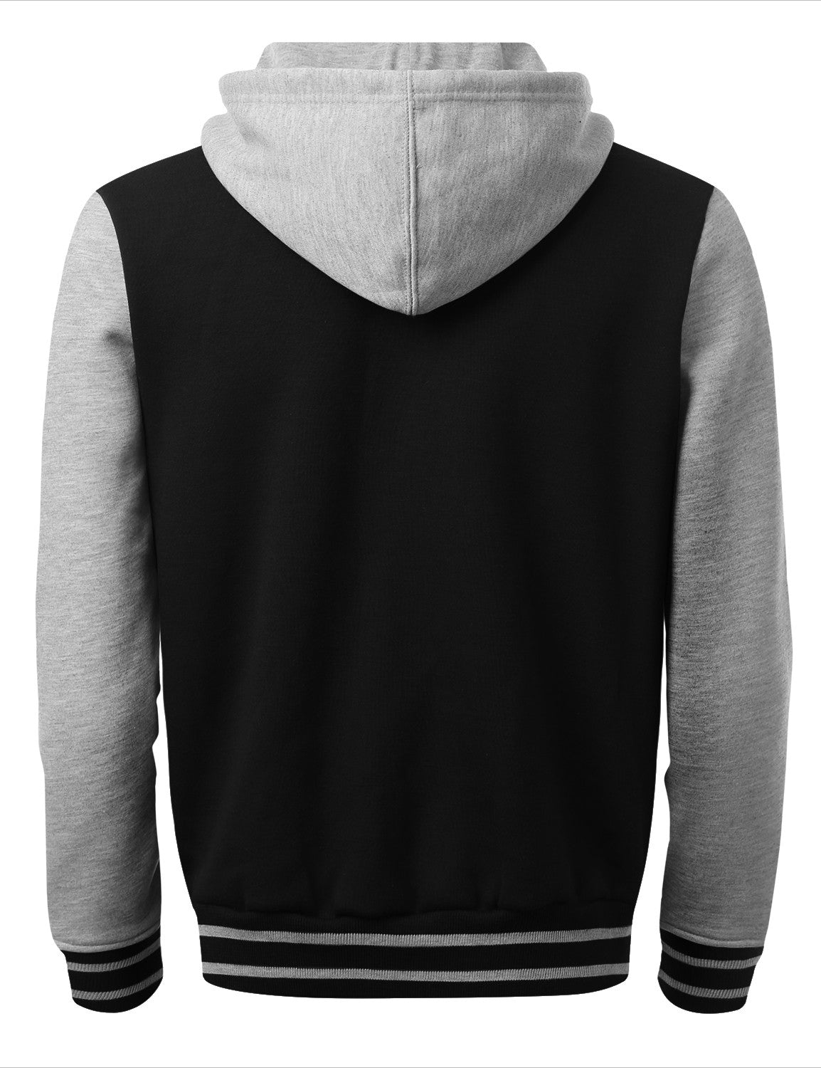 BLACKHGRAY Baseball Hoodie Jacket - URBANCREWS