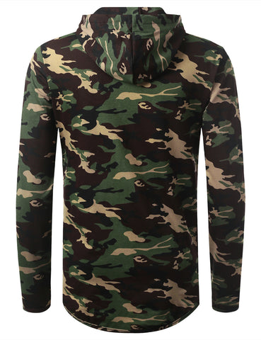 Camouflage Pullover Hooded Sweatshirts