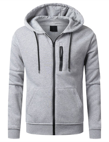 Fleece Full Zip Up Hoodie Jacket