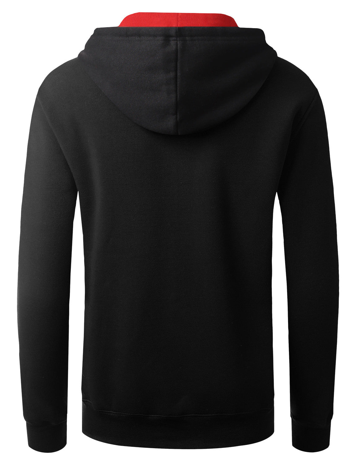 BLACKRED 2-Tone Pullover Hoodie Sweatshirt - URBANCREWS