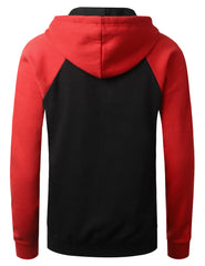BLACKRED Raglan Pullover Hoodie Sweatshirt - URBANCREWS