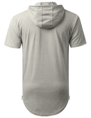 HGRAY Short Sleeve Hoodie w/ Zippers - URBANCREWS