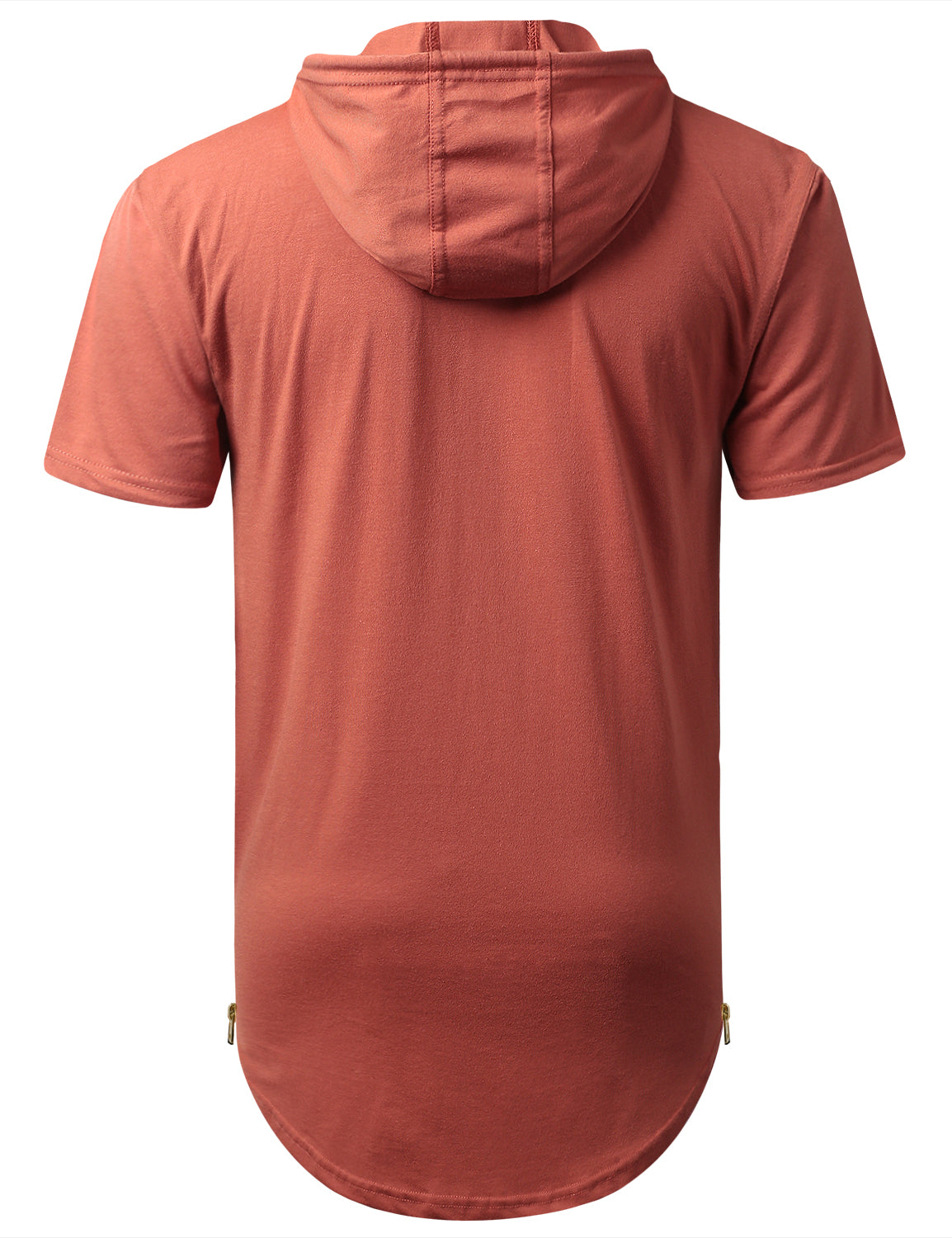 RUST Short Sleeve Hoodie w/ Zippers - URBANCREWS