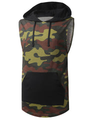 CAMO Camouflage Sleeveless Hoodie Shirt - URBANCREWS
