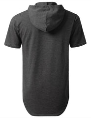 CHARCOAL Heavy French Terry Hoodie T-shirt - URBANCREWS
