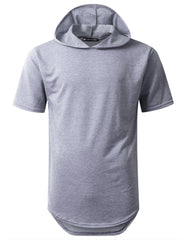 BLUE Heavy French Terry Hoodie T-shirt - URBANCREWS