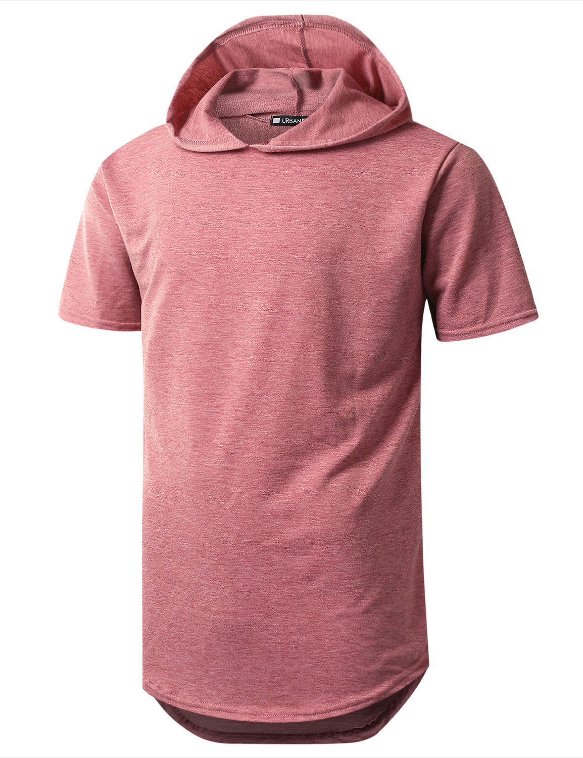 BURGUNDY Heavy French Terry Hoodie T-shirt - URBANCREWS