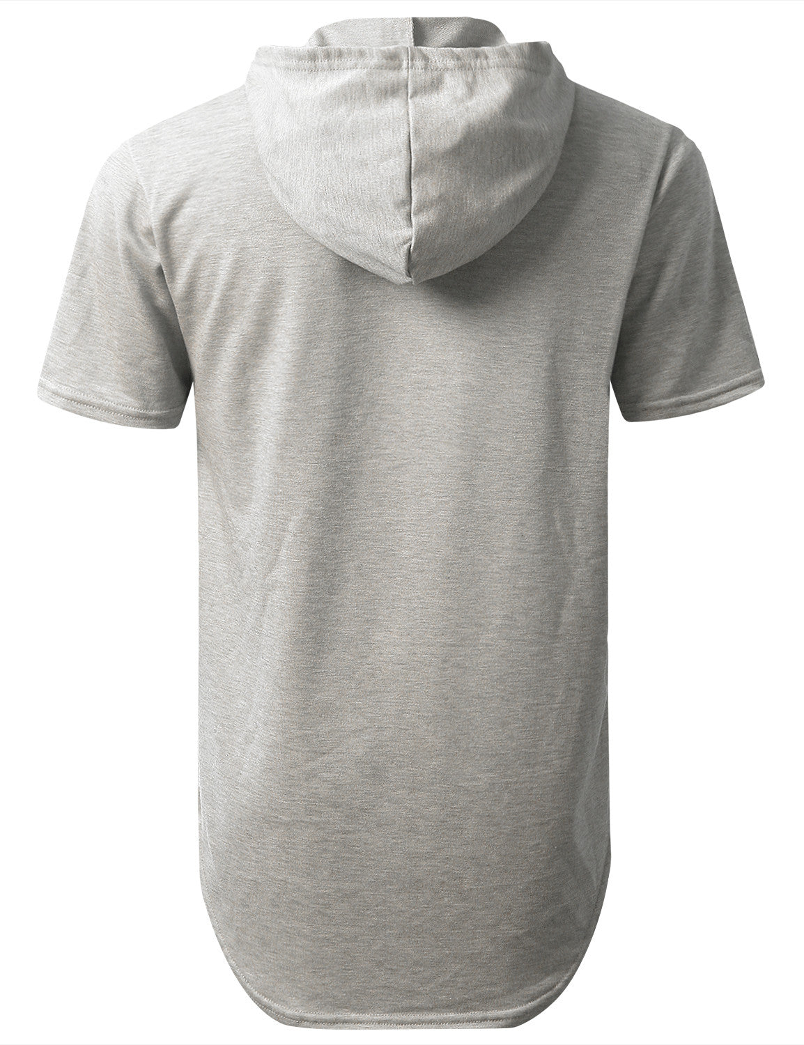 GRAY Heavy French Terry Hoodie T-shirt - URBANCREWS
