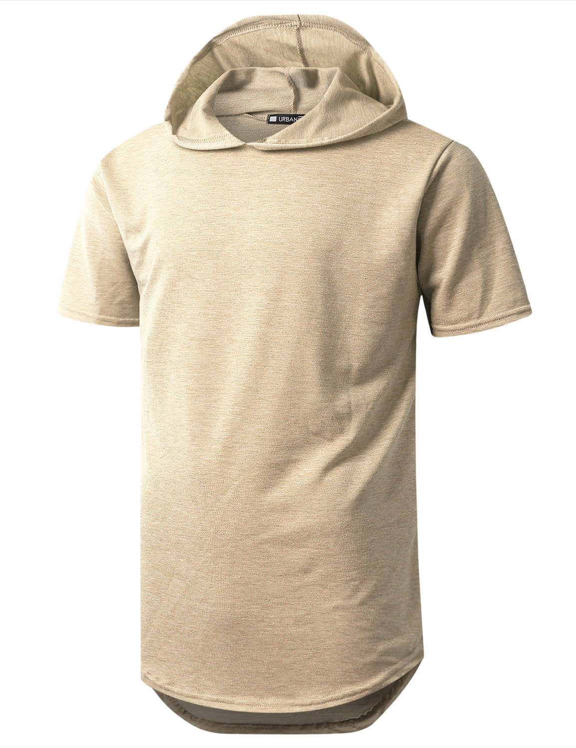 TAUPE Heavy French Terry Hoodie T-shirt - URBANCREWS