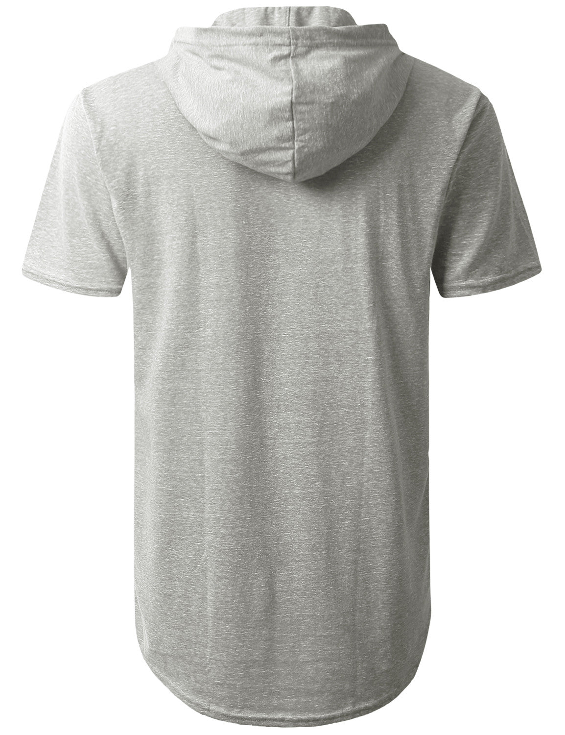 GRAY Melange Pocket Short Sleeve Hoodie - URBANCREWS