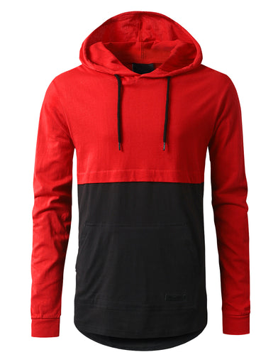 Colorblock Pullover Hoodie Shirt
