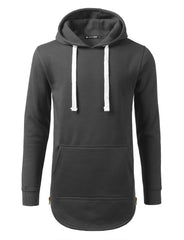 CHARCOAL Basic Pullover Fleece Hoodie - URBANCREWS