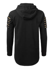 BLACKGOLD Razor Slashed Fleece Hoodie - URBANCREWS