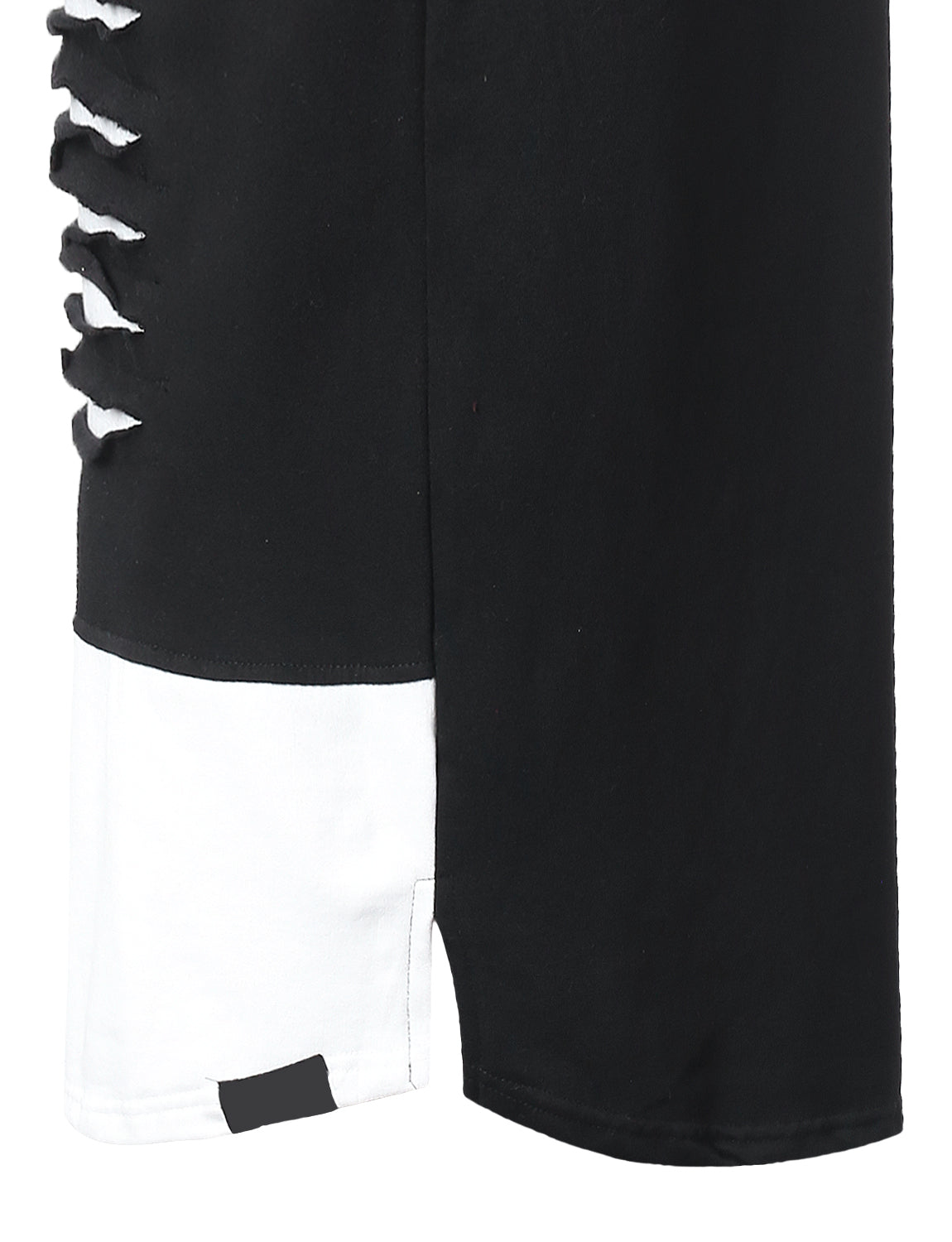 BLACKWHITE Razor Slashed Fleece Hoodie - URBANCREWS