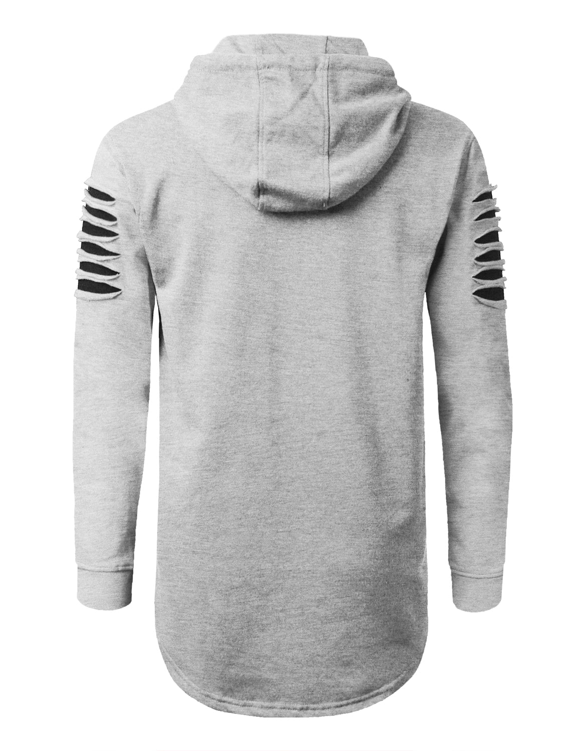 HGRAY Razor Slashed Fleece Hoodie - URBANCREWS