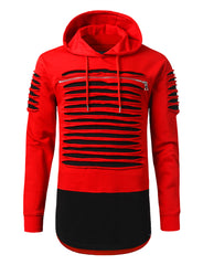 REDBLACK Razor Slashed Fleece Hoodie - URBANCREWS