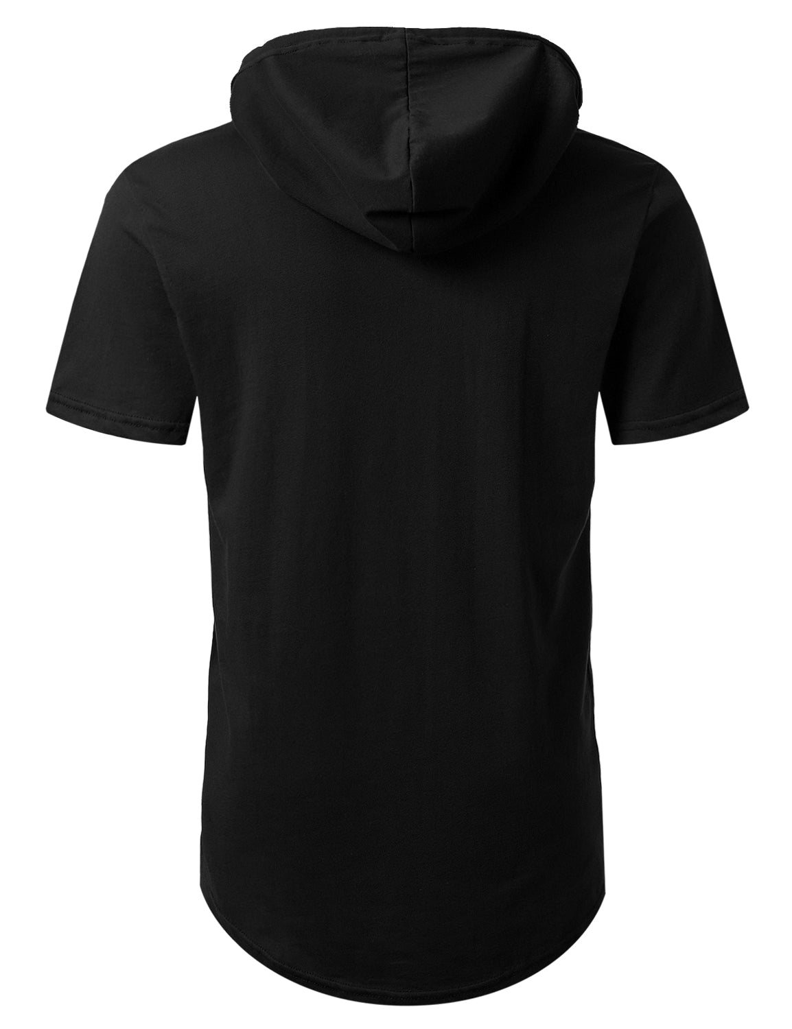BLACK Short Sleeve Pullover Hoodie Shirt - URBANCREWS