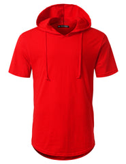 RED Short Sleeve Pullover Hoodie Shirt - URBANCREWS