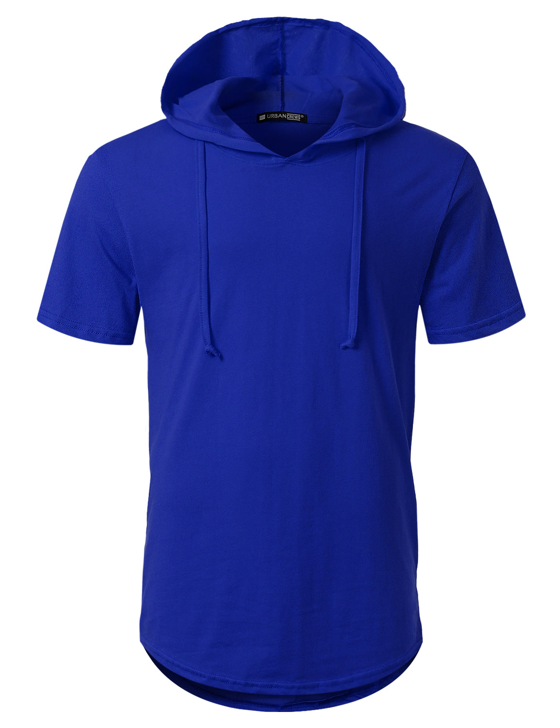 ROYALBLUE Short Sleeve Pullover Hoodie Shirt - URBANCREWS