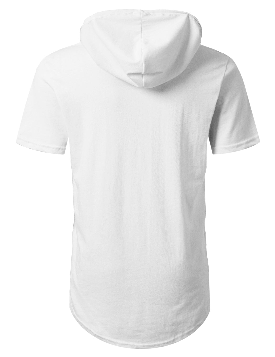 WHITE Short Sleeve Pullover Hoodie Shirt - URBANCREWS
