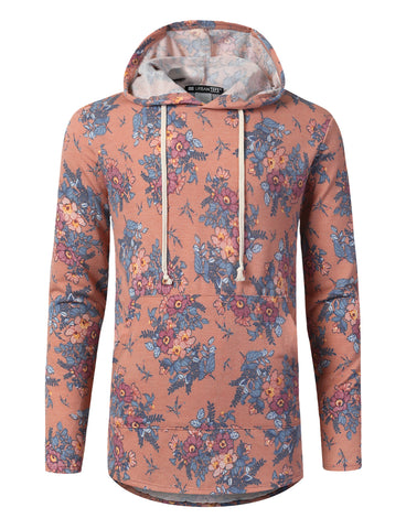Floral Heathered French Terry Hoodie