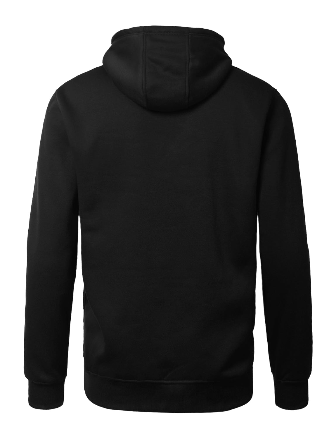 BLACK Lightweight Pullover Fleece Hoodie - URBANCREWS