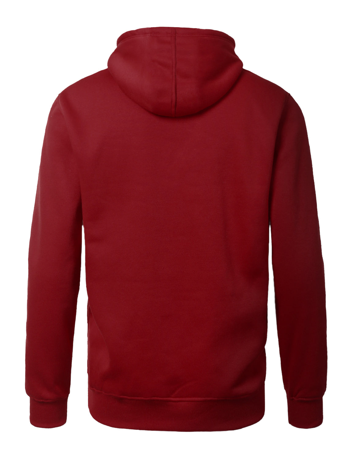 BURGUNDY Lightweight Zip Up Fleece Hoodie - URBANCREWS