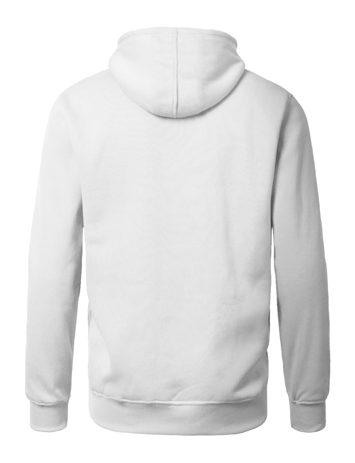 WHITE Lightweight Zip Up Fleece Hoodie - URBANCREWS