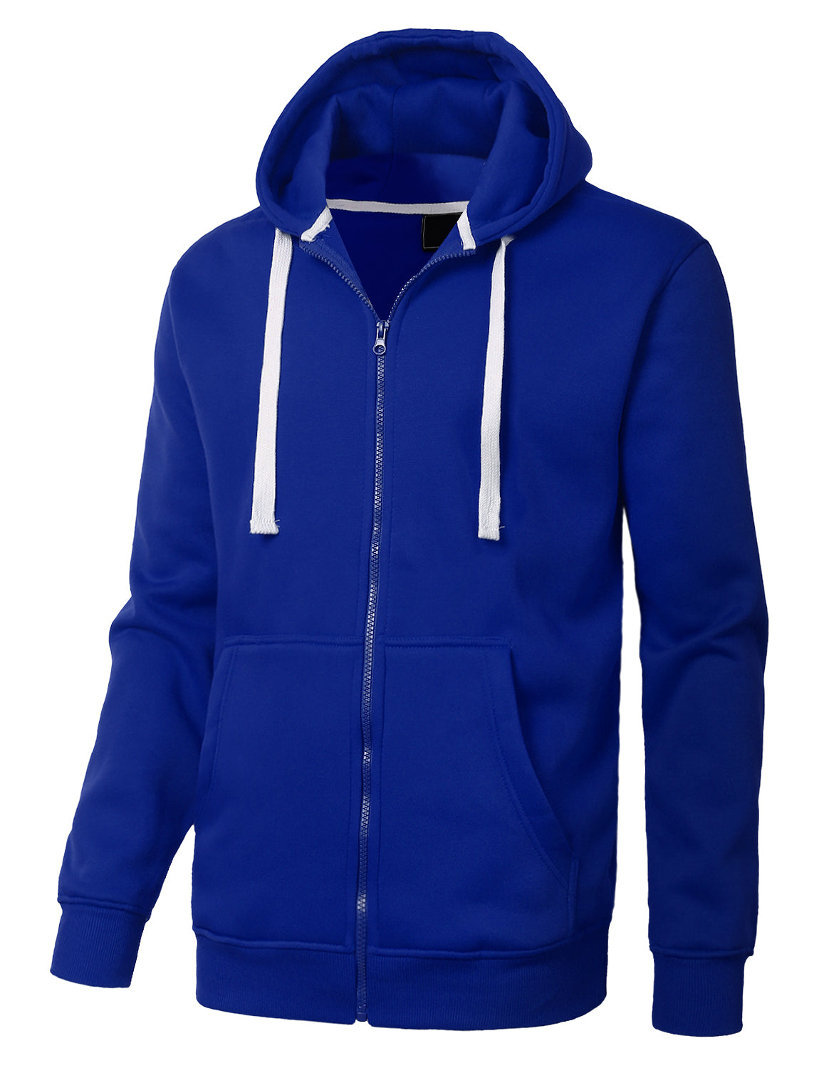 ROYAL Basic Zip-Up Fleece Hoodie Jacket - URBANCREWS