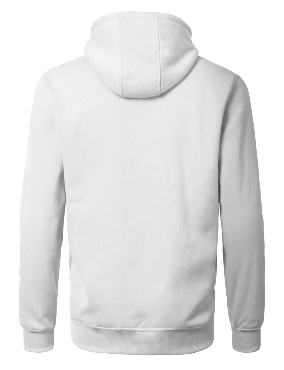 WHITE Basic Zip-Up Fleece Hoodie Jacket - URBANCREWS
