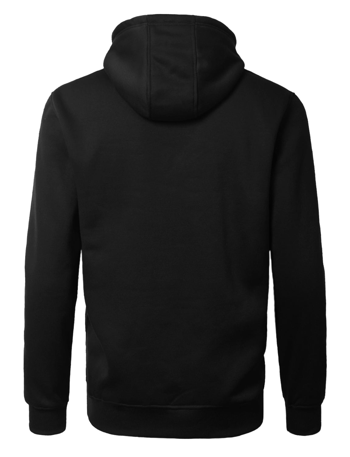 BLACK Basic Pullover Fleece Hoodie - URBANCREWS