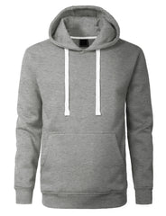 GREY Basic Pullover Fleece Hoodie - URBANCREWS