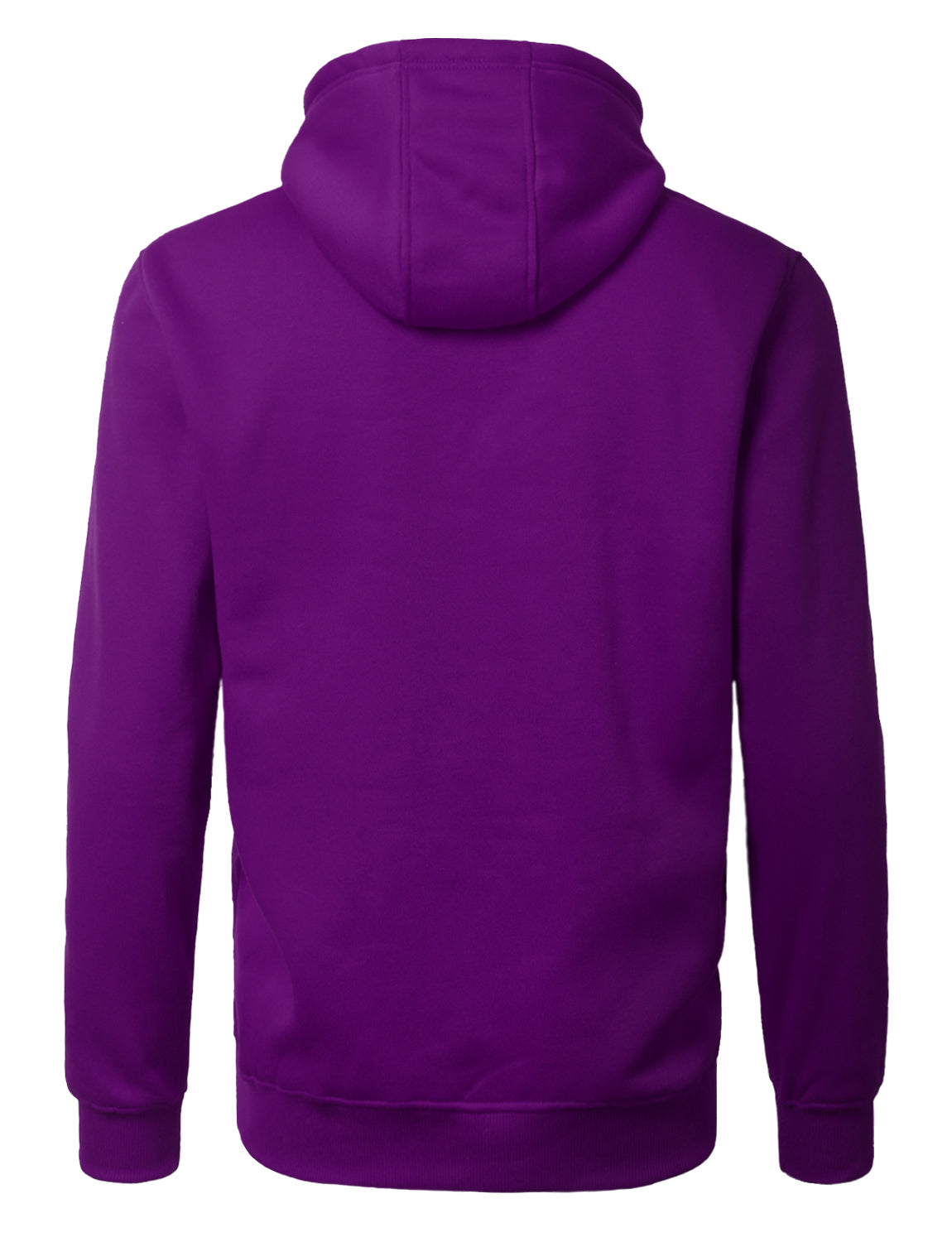 PURPLE Basic Pullover Fleece Hoodie - URBANCREWS