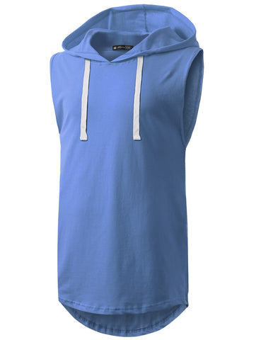 Basic Longline Hooded Muscle Tank Top