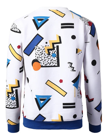 Pop Art Design All Over Printed Crown Sweatshirts