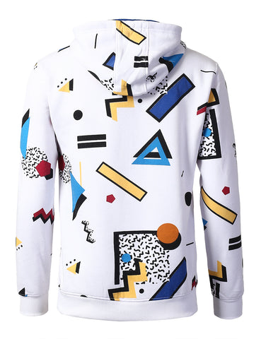 Pop Art Design All Over Printed Crown Hoodies