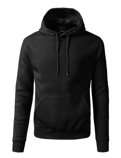 Basic-Pullover-Fleece-Hoodies -BLACK