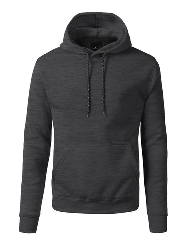 Basic-Pullover-Fleece-Hoodies - Heather CHARCOAL