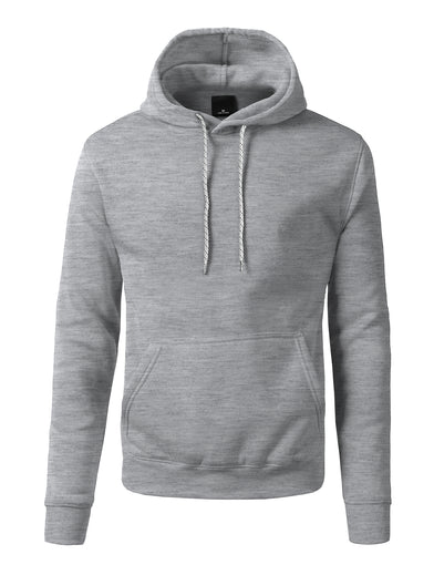Basic-Pullover-Fleece-Hoodies - Heather Grey