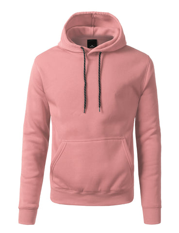 Basic-Pullover-Fleece-Hoodies - PINK