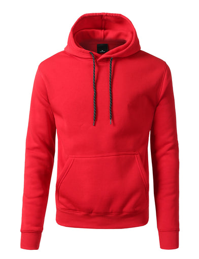 Basic-Pullover-Fleece-Hoodies - RED