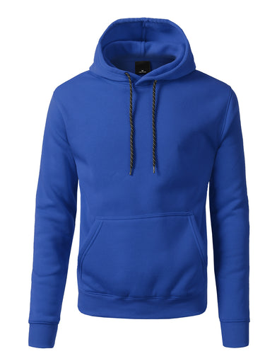 Basic-Pullover-Fleece-Hoodies - ROYAL BLUE