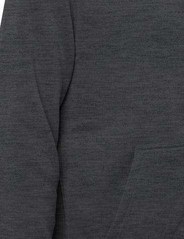 Basic-Zip Up-Fleece-Hoodies - Heather CHARCOAL