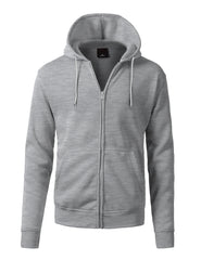 HGREY Basic Zip Up Fleece Hoodie - URBANCREWS