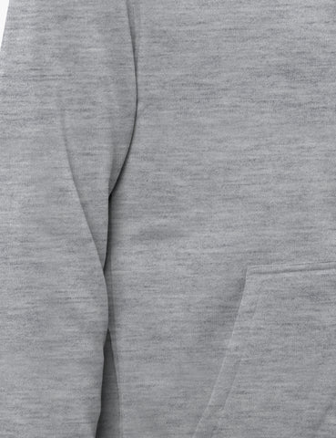 Basic-Zip Up-Fleece-Hoodies - Heather Grey