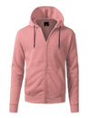 PINK Basic Zip Up Fleece Hoodie - URBANCREWS