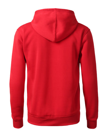 Basic-Zip Up-Fleece-Hoodies - RED
